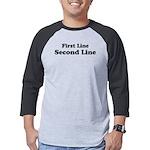 2lineTextPersonalization Mens Baseball Tee
