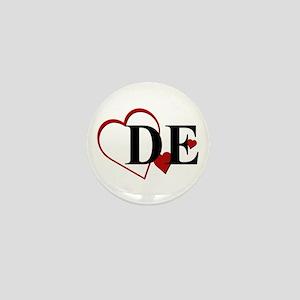 Love DE Delaware Hearts Mini Button