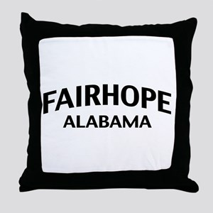 Fairhope Alabama Throw Pillow