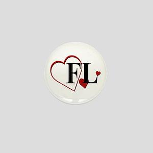 Love FL Florida Hearts Mini Button