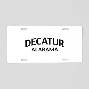 Decatur Alabama Aluminum License Plate