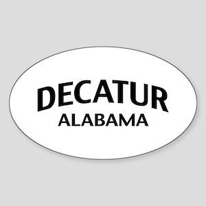 Decatur Alabama Sticker (Oval)