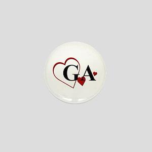 Love GA Georgia Hearts Mini Button
