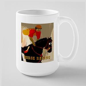 Horse Racing Large Mug