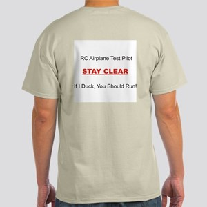 RC Airplane Test Pilot Light T-Shirt
