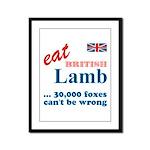 Slam in the Lamb Framed Panel Print