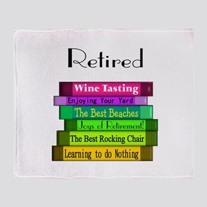Retired Professionals Throw Blanket
