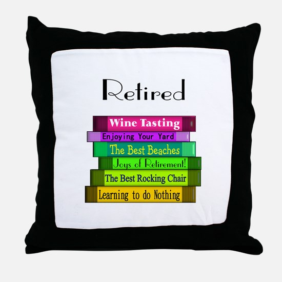 Retired Professionals Throw Pillow