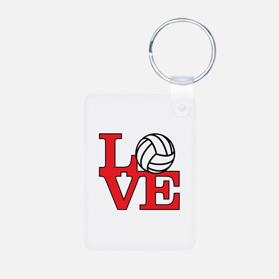 Volleyball Love - Red Keychains