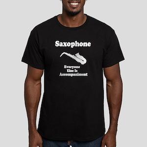 Saxophone Gift Men's Fitted T-Shirt (dark)