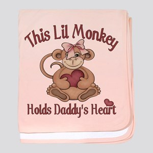 This lil monkey baby blanket