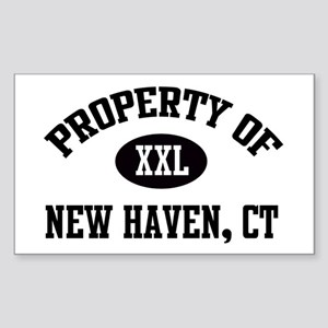 Property of New Haven Rectangle Sticker