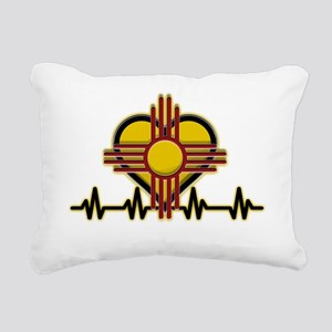 FEEL THE HEARTBEAT ZIA Rectangular Canvas Pillow