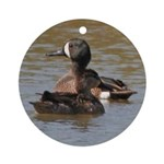 Blue-winged Teal Ornament (Round)