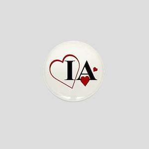 Love IA Iowa Hearts Mini Button