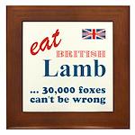 Slam in the Lamb Framed Tile