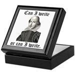 "Shakespeare ""Can I Write..."" Keepsake Box"