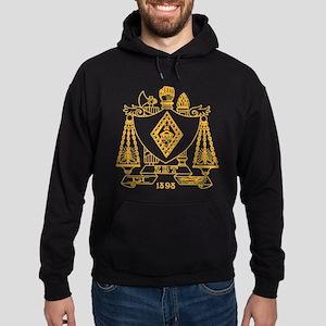 Zeta Beta Tau Fraternity Crest in Ye Hoodie (dark)