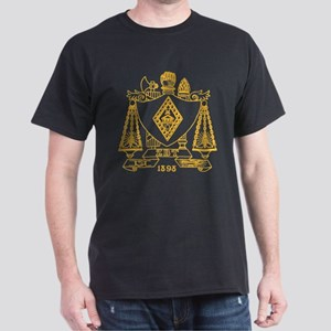 Zeta Beta Tau Fraternity Crest in Yel Dark T-Shirt