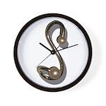 S Brooch Wall Clock