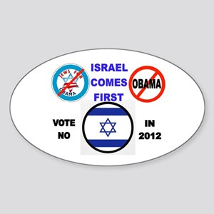 NO OBAMA 2012 Sticker (Oval)