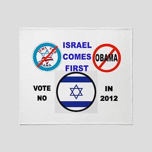 NO OBAMA 2012 Throw Blanket
