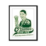 Obama's Irish Pub Framed Panel Print
