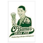 Obama's Irish Pub Large Poster