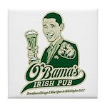 Obama's Irish Pub Tile Coaster