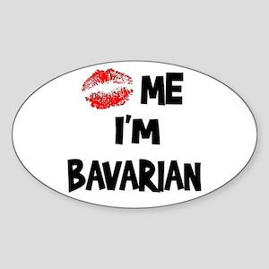 Kiss Me I'm Bavarian Oval Sticker