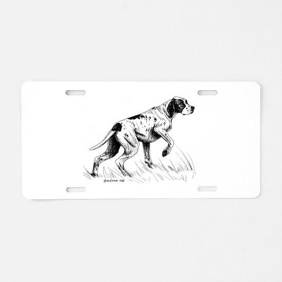 Pointer Aluminum License Plate