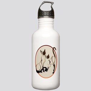 Two Siamese Cats Stainless Water Bottle 1.0L