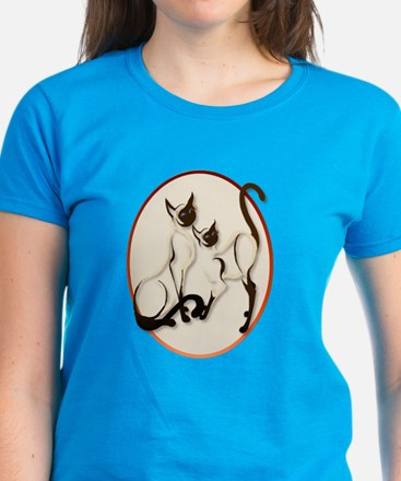 Two Siamese Cats Women's Dark T-Shirt