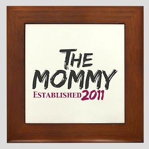 The Mommy Est 2011 Framed Tile