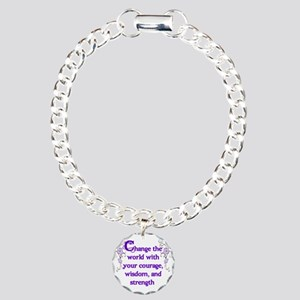 Courage, Wisdom and Strength Charm Bracelet, One C