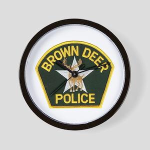 Brown Deer Police Wall Clock