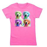 Kids golden retriever Girl's Dark T-Shirt