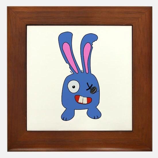 Mad Bunny Framed Tile