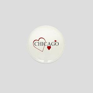 Love Chicago Hearts Mini Button