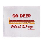 Go Deep/ Anatomy of a DeepDish - Throw Blanket