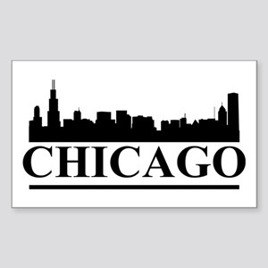 Chicago Skyline Sticker (Rectangle)