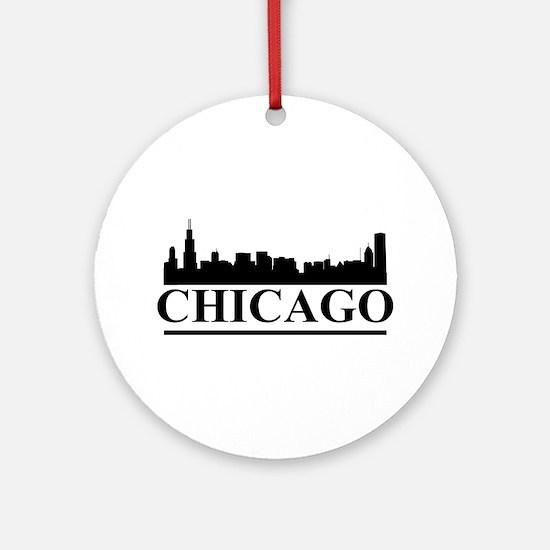 Chicago Skyline Ornament (Round)
