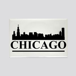 Chicago Skyline Rectangle Magnet