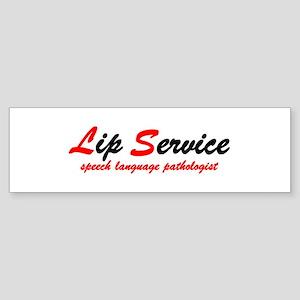 Lip Service Bumper Sticker