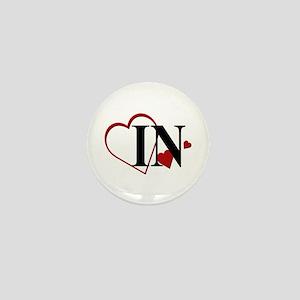 Love IN Indiana Hearts Mini Button