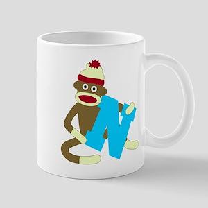 Sock Monkey Monogram Boy N Coffee Mug