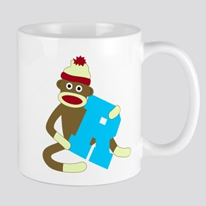 Sock Monkey Monogram Boy R Coffee Mug