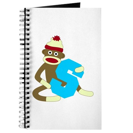 Sock Monkey Monogram Boy S Journal