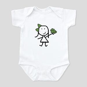 Girl & Frog Infant Creeper