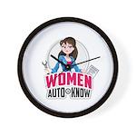 Women Auto Know Wall Clock